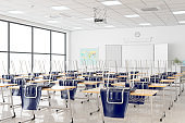 Empty Classroom Closed Due To The Covid-19 Pandemic