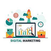business digital marketing startup concept