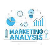 digital internet marketing analysis concept