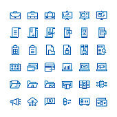 business communication and money financial outline icons set