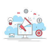 digital marketing online concept, internet business news