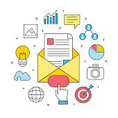 email marketing advertising concept, business internet commercial
