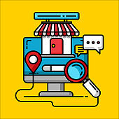 shopping online store concept, business internet marketing