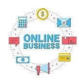 online business money communication icon