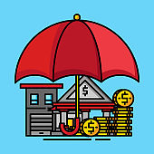 saving insurance concept, money market commerce