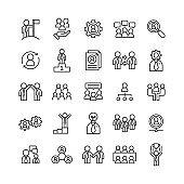 business teamwork office management, social communication concept symbol design