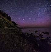 Polar aurora over the Baltic sea