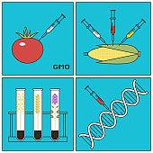 GMO information illustration
