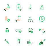 Vaccine icon set