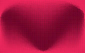 Abstract red check or heart dotted background