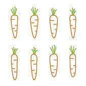 Outline carrots set