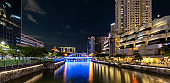 Singapore River and Boat Quay at night