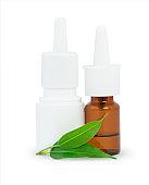 Spray bottles of medicine