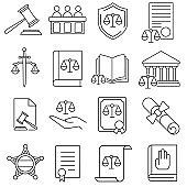 Court icon vector set. justice illustration sign collection. law symbol or logo.