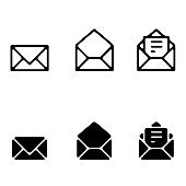 Mail icon vector set. email illustration sign collection. Envelope symbol.