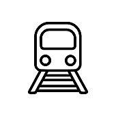 Train vector icon. tram illustration sign. travel symbol. public transport logo.