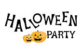 Halloween Party poster isolated on white background.