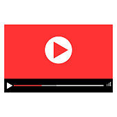 Play button vector icon. Media player control icons illustration set.