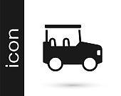 Black Safari car icon isolated on white background. Vector