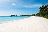 a beautiful private tropical beach
