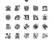 Sewing. Hobbies and leisure activities. Individually tailored clothing. Sewing tools. Dress sketch. Creative artistic hobbies and work. Vector Solid Icons. Simple Pictogram