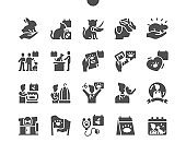 World Veterinary Day in April. Love animals. Calendar. Last saturday of april. Holiday. Veterinarian and pets. Animal protection. Vector Solid Icons. Simple Pictogram