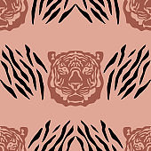 Tiger seamless pattern
