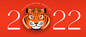 Chinese new year 2022 year of the tiger - Chinese zodiac symbol