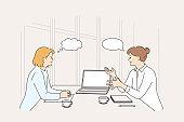 Business meeting, discussion, brainstorm concept