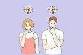 Innovation, new ideas, creativity concept