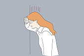 Grief, Depression, negative emotions concept