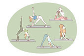 Yoga, pilates, workout concept