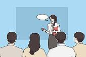 Coach, presentation and business presentation concept