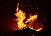 Darvaza gas crater, eternal fire at the Gates of Hell - Karakum Desert north of Darvaza, Dashoguz Province, Turkmenistan