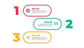 three option modern infographic template design