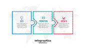 business infographic template with three steps