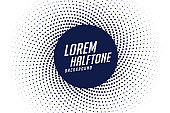 abstract halftone background in swirl style design