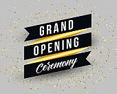 grand opening ceremony invitation banner template design