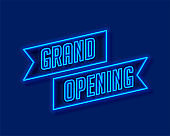 neon style grand opening ceremony template design