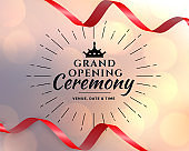 grand opening event ceremony template design