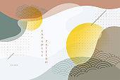 traditional style geometric japanese background design