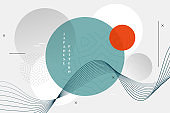 abstract japanese style geometric wallpaper design