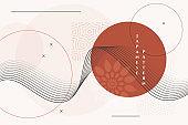 geometric japanese background with decorative elements