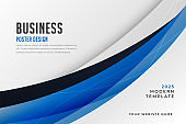 stylish blue business plan presentation template design