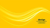 bright yellow background with wavy glowing lines