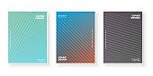 Colorful gradient covers set with modern abstract backgrounds