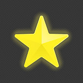 Gold star glowing banner.