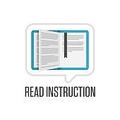 Read instructions icon.