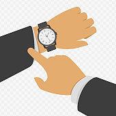 Wrist watch on hand.