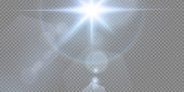 Abstract transparent sunlight special lens flare light effect